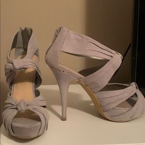 JustFab Grey Open Toe Heel
